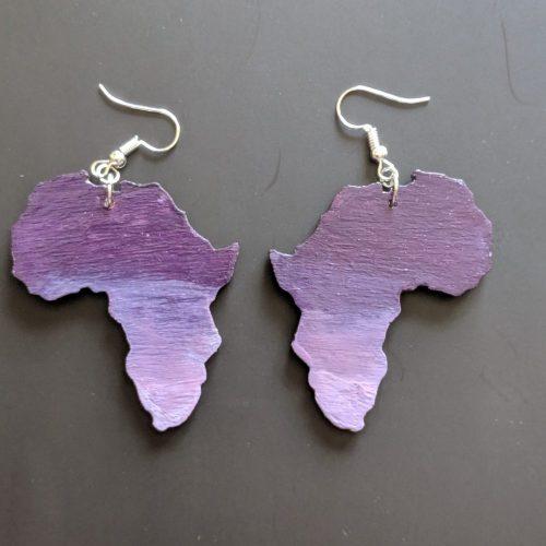 Purple Africa Earrings