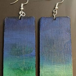 Rectangle Sea Earrings