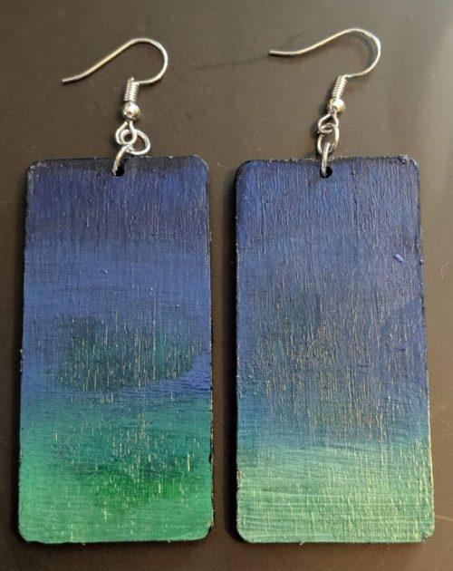 Rectangle Sea Earrings