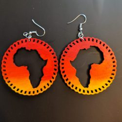 Africa Sunset Earrings (Chained Circle)